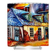 La Fittes Blacksmith Shop Shower Curtain
