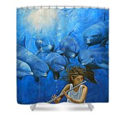La Flautista Shower Curtain