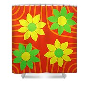 La Flor De La Vida Shower Curtain