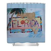 La Florida Flowered Land Shower Curtain
