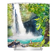La Fortuna Waterfall Shower Curtain