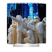 La Foule Illuminee Shower Curtain