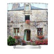 La Gacilly, Morbihan, Brittany, France, Shop Shower Curtain