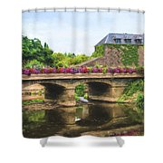 La Gacilly, River Aff, Brittany, France Shower Curtain