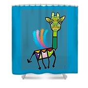 La Girafe A Plumes Shower Curtain