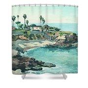 La Jolla Cove In December, La Jolla, San Diego, California Shower Curtain