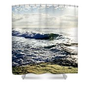 La Jolla Towards Casa Cove Shower Curtain