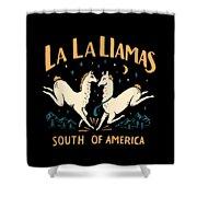 La La Llamas Shower Curtain