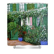 La Maison De Claude Monet Shower Curtain