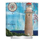 La Mer Shower Curtain by Debbie DeWitt