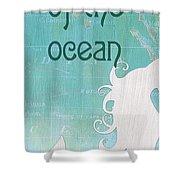 La Mer Mermaid 1 Shower Curtain