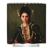 La Montera Segovia Girl In Fiesta Costume 1912 Shower Curtain