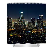 L.a. Night View Shower Curtain