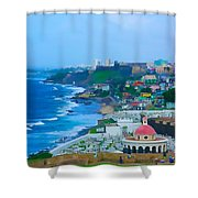 La Perla In Old San Juan Shower Curtain