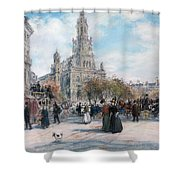 La Place De Trinite Shower Curtain