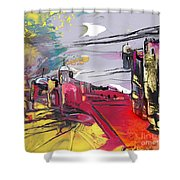 La Place Rouge Espagnole Shower Curtain