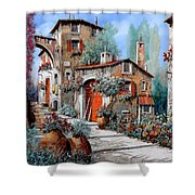 La Porta Rossa Shower Curtain