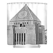 La Public Library Tower Mosaic Shower Curtain