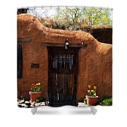 La Puerta Marron Vieja - The Old Brown Door Shower Curtain
