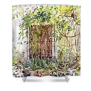 La Puerta Vieja Y Macetas Shower Curtain
