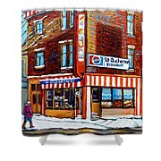 La Quebecoise Restaurant Montreal Shower Curtain