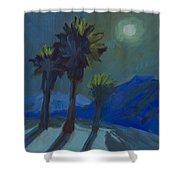 La Quinta Cove And Moonlight Shower Curtain