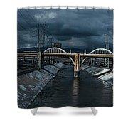 Los Angeles River Autumn 2015 Shower Curtain