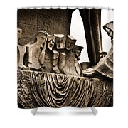 La Sagrada Familia Sculpture Shower Curtain