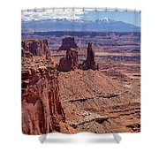 La Sal And The Canyon Shower Curtain