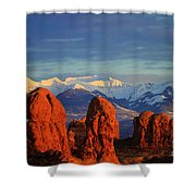 La Sal Mountains In Arches Np Utah Shower Curtain