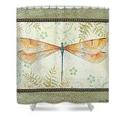 La Sauge Libellule-2 Shower Curtain