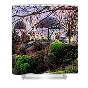 L A Skyline With Griffith Observatory - Panorama Shower Curtain