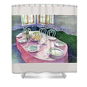 La Table De Fernande Shower Curtain