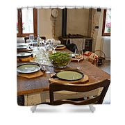 La Tavola Italiana Shower Curtain