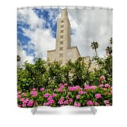 La Temple Pink Shower Curtain