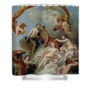 La Toilette De Venus Shower Curtain by Francois Lemoyne