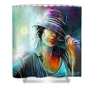 La Tombeuse Shower Curtain