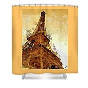 La Tour Eiffel Shower Curtain