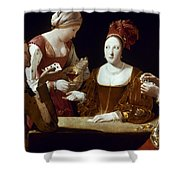 La Tour: The Cheat, C1625 Shower Curtain