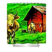 La Vaca Shower Curtain