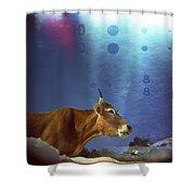 La Vache Numerique Shower Curtain