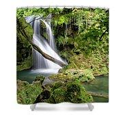 La Vaioaga Waterfall Shower Curtain
