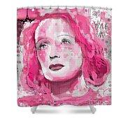 La Vie En Rose Shower Curtain