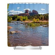 Lab In River At Sedona Arizona Shower Curtain