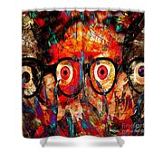 Label The Brain Through The Eyes - Lords Of Madness Shower Curtain