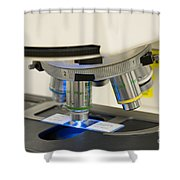 Laboratory Fluorescent Microscope Shower Curtain