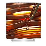 Laboratory Petri Dishes In Science Research Lab Shower Curtain