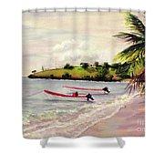 Laborie Beach  Shower Curtain