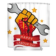 Labour Day  Shower Curtain