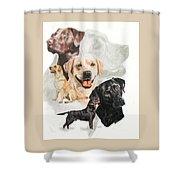 Labrador Retriever W/ghost Shower Curtain
